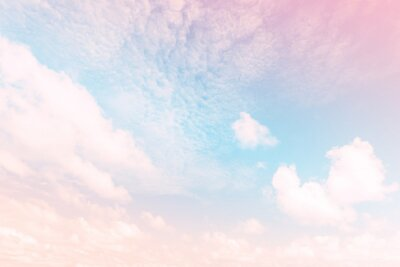 Carta da parati Sky con un pastello colorato di gradiente
