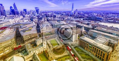 Carta da parati Skyline di Londra dalla Cattedrale di St. Paul