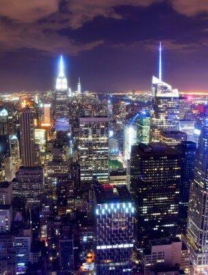 Carta da parati Skyline di New York durante la notte