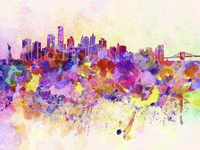 Carta da parati Skyline di New York in acquerello sfondo