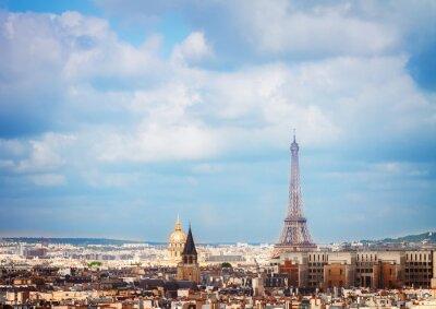 Carta da parati skyline di Parigi con la Torre Eiffel