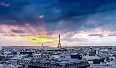 Carta da parati Skyline di Parigi. Dettaglio architettonico della città