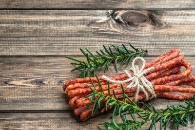 Carta da parati Smoked Kabanos salsiccia - salsiccia tradizionale sottile