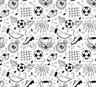 Carta da parati Soccer vector background. Vector illustration of seamless football wallpaper pattern for your design
