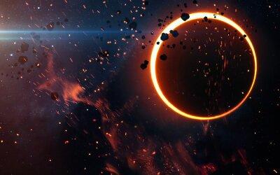 Carta da parati Solar Eclipse di sopra di una nebulosa. Elementi di questa immagine fornita dalla NASA