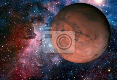 Carta da parati Solar System - Mars. E 'il quarto pianeta dal Sole