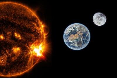Carta da parati Sole, Terra e la Luna - Elementi di questa immagine fornita dalla NASA