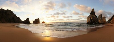 Carta da parati Sonnenuntergang am Strand in Portogallo