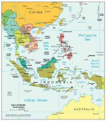 Carta da parati Southeast Asia political divisions
