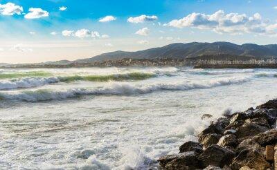 Carta da parati Spagna Küste Meer Brandung Wellen