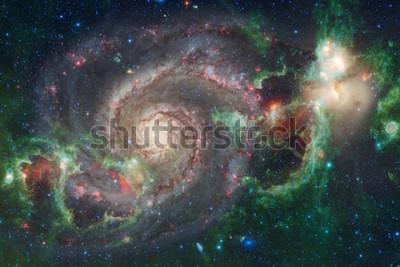 Carta da parati Spazio esterno arte. Nebulose, galassie e stelle luminose in bella composizione. Elementi di questa immagine forniti dalla NASA