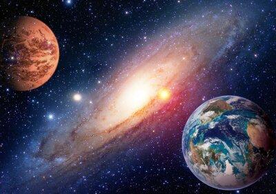 Carta da parati Spazio pianeta galassia Via Lattea Terra Marte universo astronomia del sistema solare astrologia. Elementi di questa immagine fornita dalla NASA.
