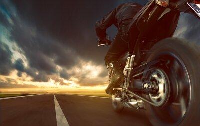 Carta da parati Speeding Motorcycle