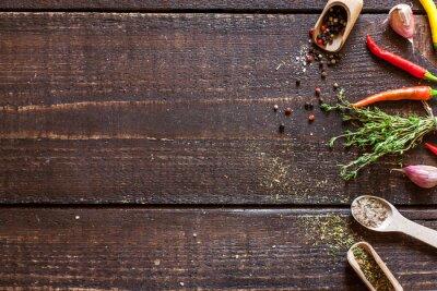 Carta da parati spezie ed erbe aromatiche