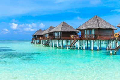 Carta da parati spiaggia con Maldive