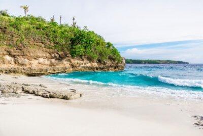 Carta da parati spiaggia di sabbia bianca tropicale