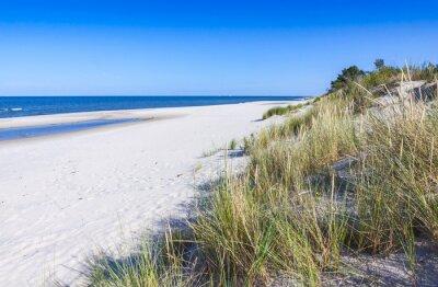 Carta da parati Spiaggia di sabbia sulla penisola di Hel, Mar Baltico, Polonia