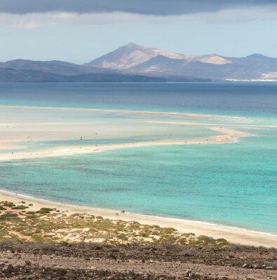Carta da parati Spiaggia Playa de Sotavento, Isole Canarie Fuerteventura, Spagna