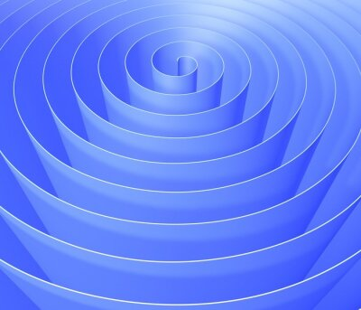 Carta da parati Spirale 3D, digitale sfondo modello astratto