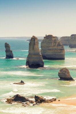 Carta da parati Splendida veduta aerea di Dodici Apostoli, Victoria - Australia