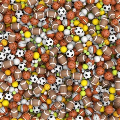 Carta da parati Sport balls on the floor