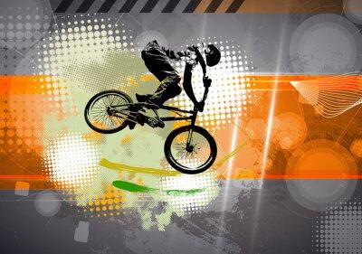 Carta da parati Sport, illustrazione BMX
