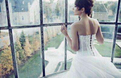 Carta da parati Sposa bianco