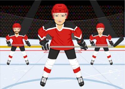 Carta da parati squadra maschile di hockey su ghiaccio