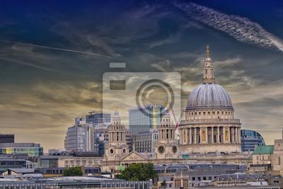 Carta da parati St. Paul Cathedral with beautiful sky