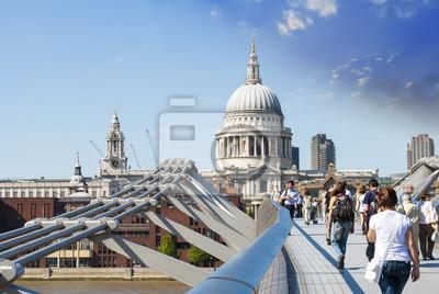 Carta da parati St Paul Cattedrale vista dal Millennium Bridge, London