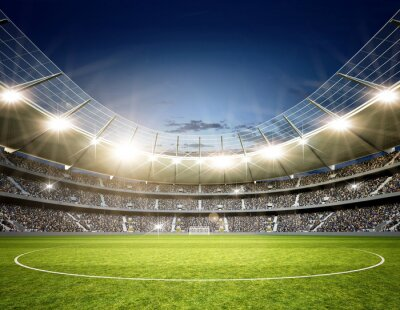 Carta da parati Stadion Neutral Mittellinie