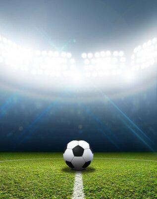 Carta da parati Stadium And Soccer Ball