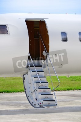 Carta da parati Stairs on a luxury private jet aircraft - Bombardier Global Express