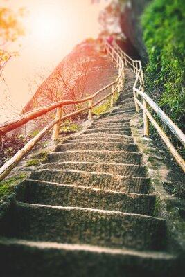 Carta da parati Stairs on the mountain