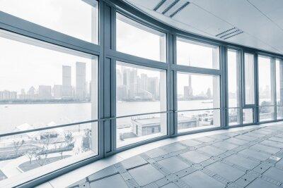 Carta da parati stanza ufficio vuoto nei moderni edifici per uffici