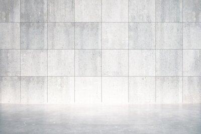 Carta da parati Stanza vuota con pavimento in cemento e parete