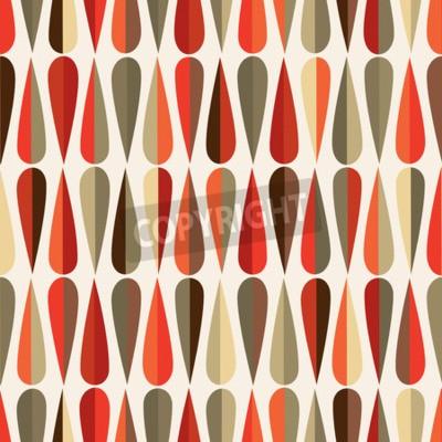 Carta da parati stile moderno modello retrò senza soluzione di continuità la metà del secolo con forme goccia in varie tonalità di colore, sfondo ripetendo astratto per tutti gli scopi web e stampa.