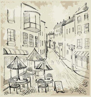Carta da parati Street cafe
