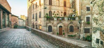 Carta da parati Street view panoramica a Certaldo, Italia.
