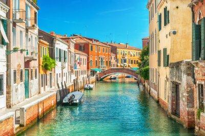 Carta da parati Stretto canale a Venezia, Italia.