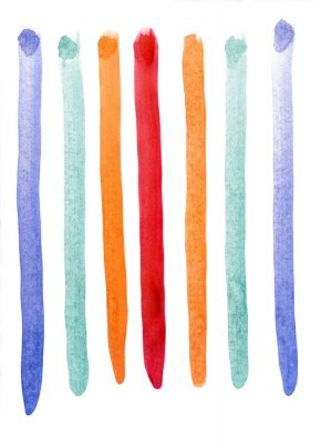 Carta da parati strisce multicolore acquerello