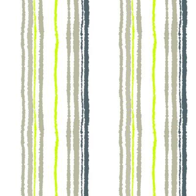 Carta da parati striscia modello trasparente. Le linee verticali con effetto carta strappata. sfondo bordo distruggere. Freddo morbido grigio, verde oliva, colore bianco. Inverno tema. Vettore