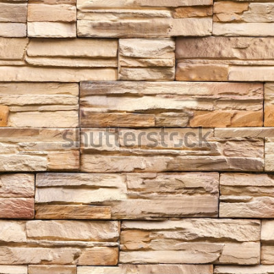 Carta da parati struttura e fondo senza cuciture della parete di pietra