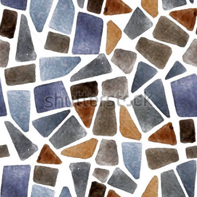 Carta da parati Struttura in pietra senza tessuti dell'acquerello per i vostri disegni