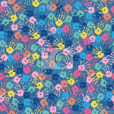 810d884757 Carta da parati: Struttura senza giunte con stampe multi-colorate a mano su  uno