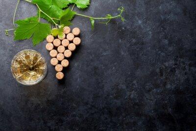 Carta da parati Sugheri del vino e della vite di uva forma