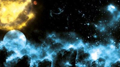 Carta da parati Sun / Galaxy Spacefog