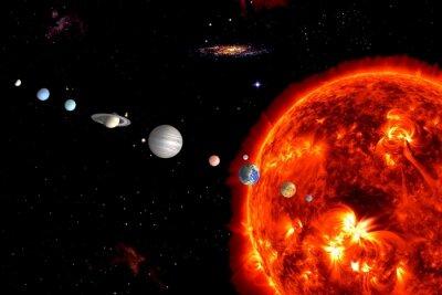 Carta da parati Sun System, gli elementi sono fornite dalla NASA