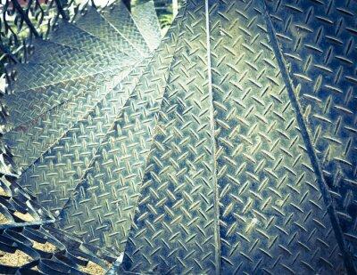 Carta da parati Suono vintage di ferro scala a chiocciola sfondo