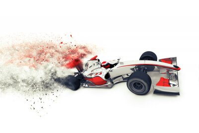 Carta da parati Superfast 3D auto da corsa generico